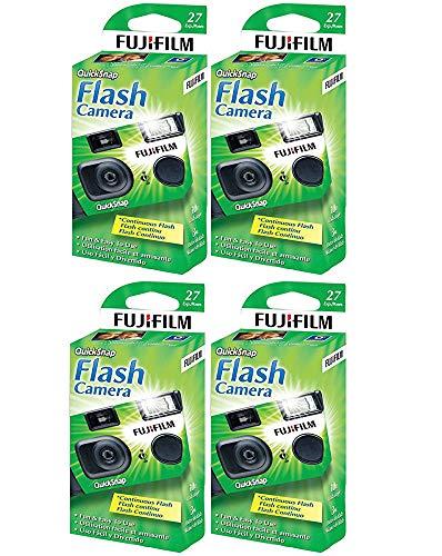 Fujifilm QuickSnap Flash 400 Disposable 35mm Camera (4 Boxes)