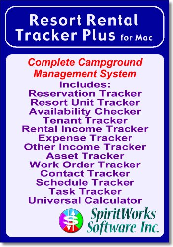 Resort Rental Tracker Plus for Mac [Download] by SpiritWorks Software Inc.