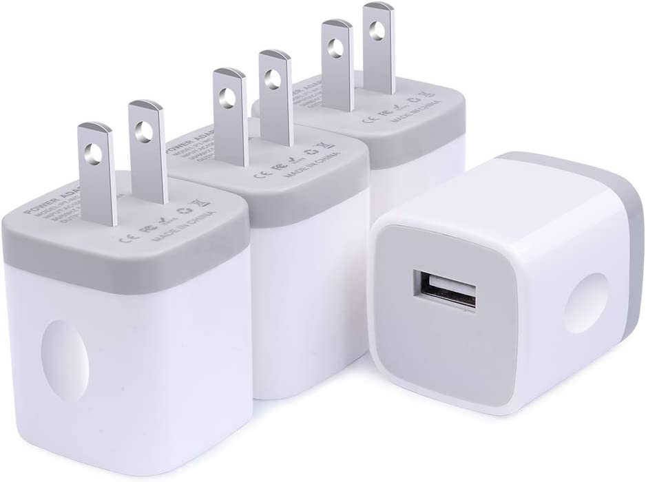 iPhone 12 Max Charger Plug Charging Bricks, Cube Charger Box One Port,5W Fast Charger Adapter Travel Power Blocks 4Pack Compatible iPhone 12/11 Pro Max X/SE 2020, Samsung S21 S20 FE Plus Note 20