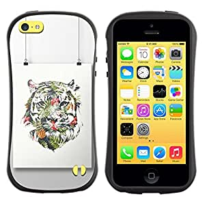 "Hypernova Slim Fit Dual Barniz Protector Caso Case Funda Para Apple iPhone 5C [Pintura colorida Art Dibujo""]"