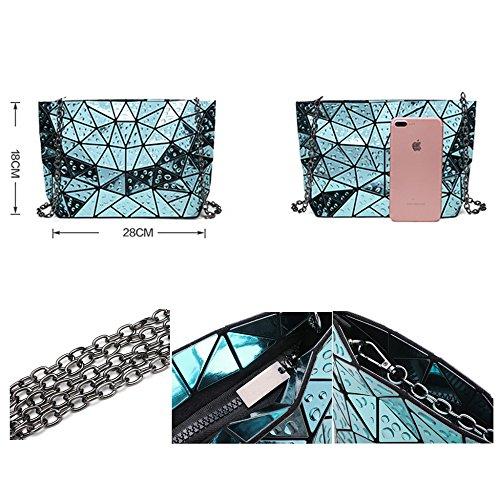 Messaggero Triangolo Dell'unità Blu Per Estate Sacchetti Metallica Spalla Donne Bambine Cade Geometrico Modo Laides Croce Elaborazione Di Del Corpo Le wnASqR4Wz