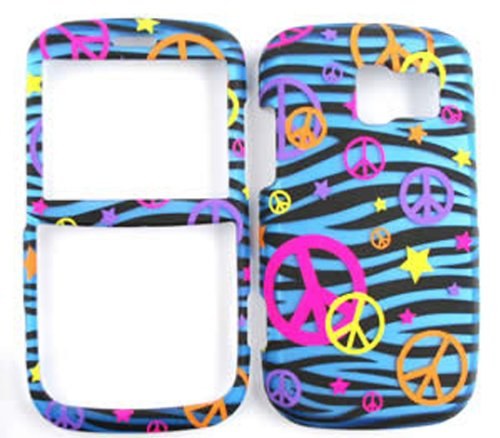 Link 7040, For Pantech Link P7040p, Fitted Case/Skin New Hard Rigid Plastic, (Peace Blue Zebra) Cover Case, For Pantech Link, Plain/Patterned/Pictorial Design/Finish Snap Faceplate Housing Protector - TE321-S accessoriesnmore