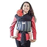 Maman Kangourou Amerigo Stretchy Wrap Baby Carrier, Black Chameleon