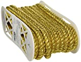 Wright Products Jumbo Metallic Twisted Cord 1/2'' Wide 12 Yards-Gold