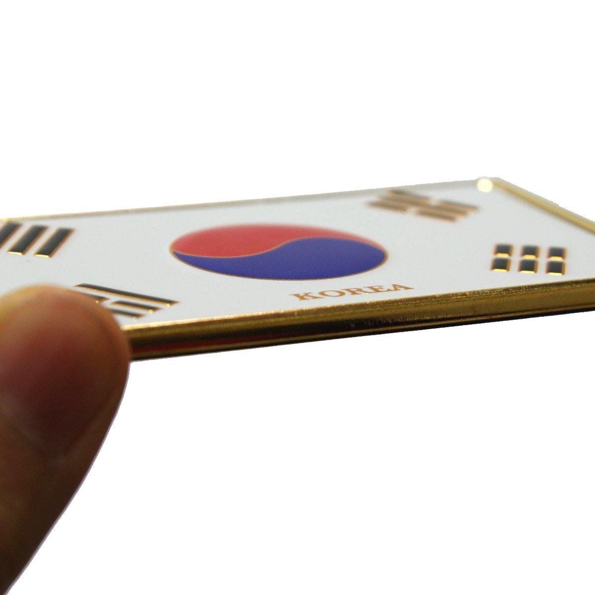 Korean Flag Taegeukgi Fridge Magnet Metal Art Memo Holder