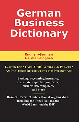 German Business Dictionary: English-German, German-English by Schreiber Publishing