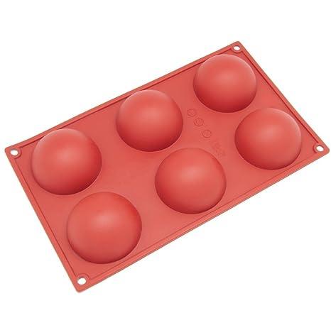 dingsheng molde de medio círculo molde de silicona para hacer delicado Chocolate postres, helado Bombes