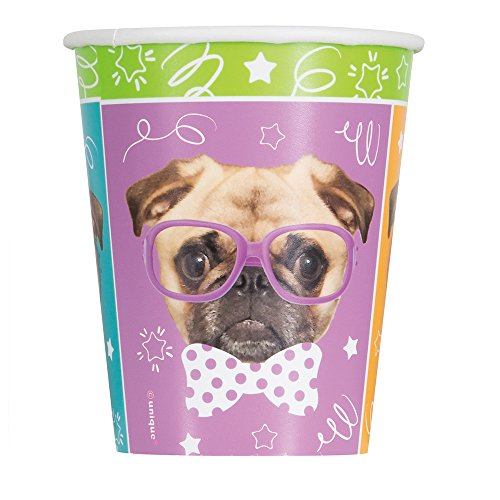 9oz Pug Puppy Birthday Party Cups, 8ct ()