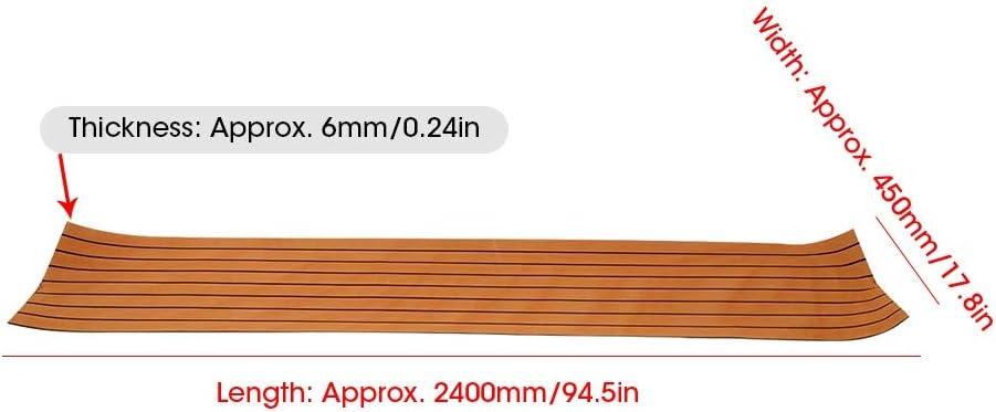Yacht Tappetino per decking in Finto Teak Antiurto per Barca Lastra per pavimentazione in Teak Sintetico in Schiuma Eva lastra per decking per Barche Antiscivolo autoadesiva