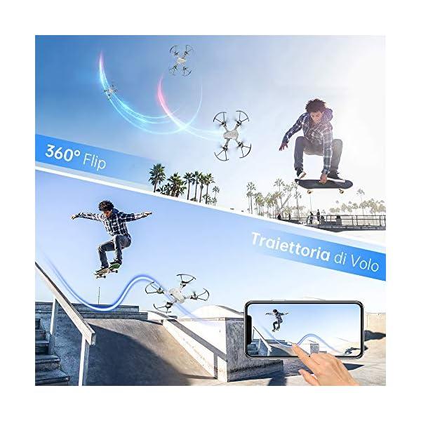 SNAPTAIN A10 720P Mini Drone con Telecamera HD Pieghevole FPV Controllo Vocale, Controllo Gesti, Volo Traiettoria, Volo Circolare, Rotazione ad Alta velocità, 3D Filp, Sensore G, modalità Senza Testa 6 spesavip
