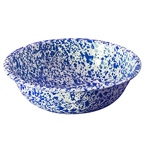 Enamelware Small Basin - Blue Marble