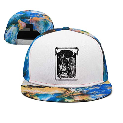 Blue Walpurgis Night Witch Art Unisex Casual Cotton Flat Cap Fitted Hip Hop Snapback Hats