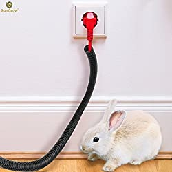SunGrow Wire Loom Tubing Protect Wires from Rabbits, Cats and Other Pets - Efficiently manages Open Cables