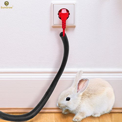 (SunGrow Wire Loom Tubing Protect Wires from Rabbits, Cats and Other Pets - Efficiently manages Open Cables)