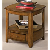 Hammary Primo Drawer End Table in Brown