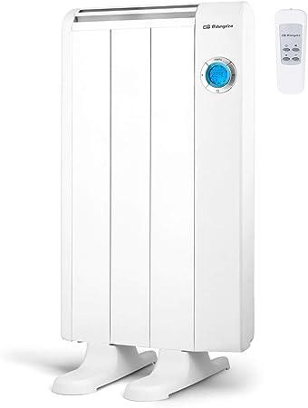 Oferta amazon: Orbegozo RRE 510 Emisor Térmico Bajo Consumo, 3 Elementos de Calor, Pantalla Digital LCD, Mando a Distancia, Funcionamiento Programable, 500 W, Negro