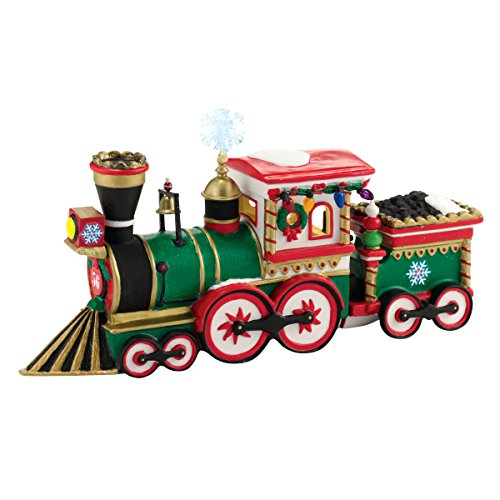 Department 56 North Pole Village Northern Lights Express Engine Accessory Figurine, 2.17 inch (56 Villages North Pole Accessories)