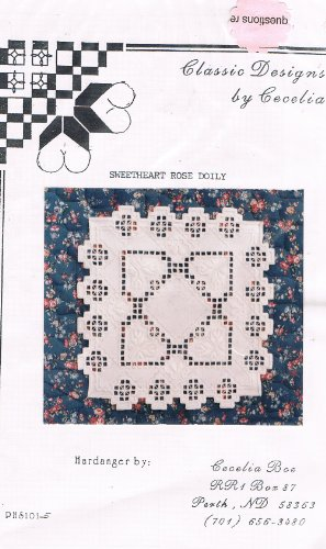 - Hardanger Embroidery Doily Pattern (Sweetheart Rose Doily)