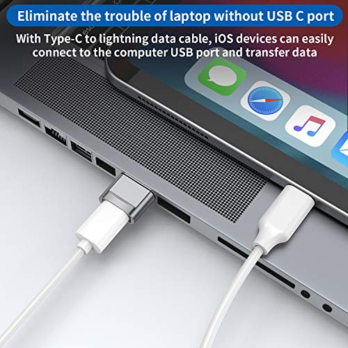 USB C Female to USB Male Adapter 4-Pack,Type C to USB A Charger Cable Adapter,Compatible with iPhone 13 12 11 Mini Pro Max,iPad 2020,Samsung Galaxy Note 10 S21 S20 Plus,Google Pixel 5 4A 3 XL