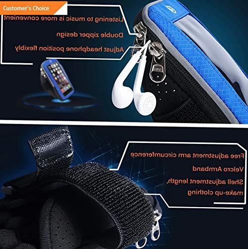 Werrox Waterproof Sport Running Jogging Gym Armband Pouch Bag Phone Case Cover Holder | Model FTNSSBG - 709 | LG Fortune/Phoenix 3 /Rebel 2.