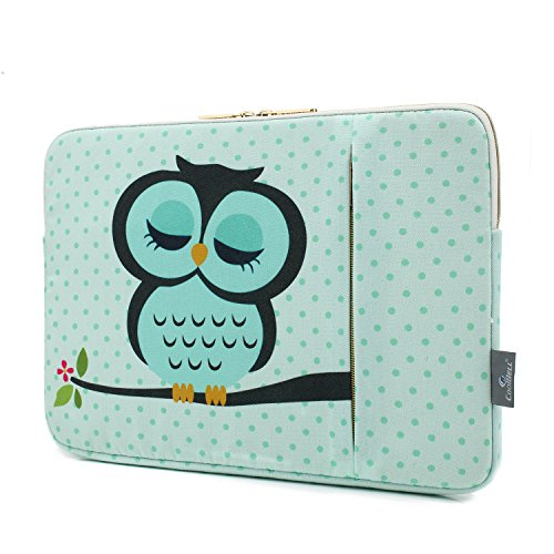 CoolBELL 15.6 Inch Laptop Sleeve Case Cover With Cute Owl Pa