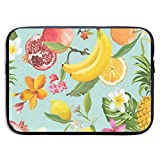 15 Inch Laptop Sleeve Briefcase Pomegranate Lemon Palm Leaves Neoprene Waterproof Handbag Protective Bag Cover Case for Surface Laptop/Notebook/Acer/Asus/Dell/Lenovo/iPad/Surface Book