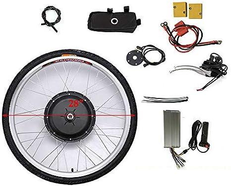 Shioucy E Bike Conversion Kit 28 Zoll Vorderrad Umbausatz 48v 1000w Für Vorderrad Sport Freizeit