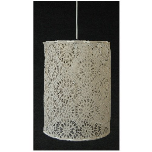 Heritage Lace Nova 10-Inch by 14-Inch Round Lamp Shade, Cafe
