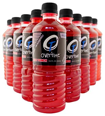 Overtime 27-FP Sugar-Free Electrolyte Replacement Drink, 16.9 oz Bottle, Fruit Punch Flavor (Case of 24)