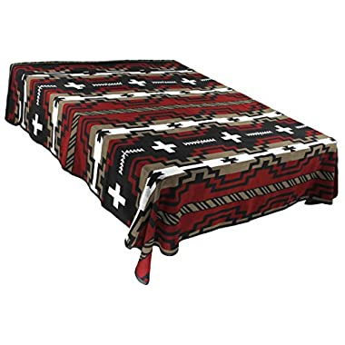 Splendid Exchange Southwestern Bedding Diamond Star Collection, Mix and Match, Queen/Full Size Reversible Bedspread, Red and Black