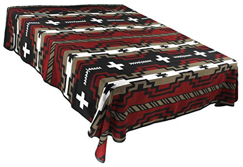 Splendid Exchange Southwestern Bedding Diamond Star Collection  Mix And Match  Queen Full Size Reversible Bedspread  Red And Black