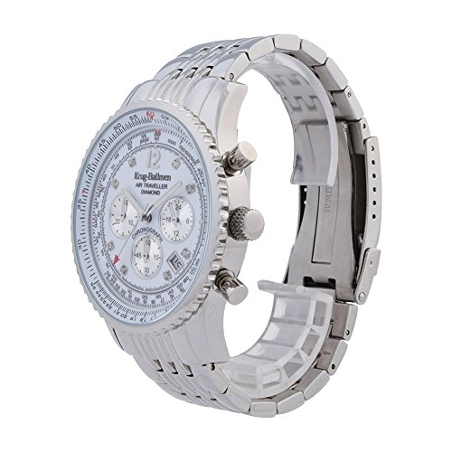 Krug-Baumen 600301DS Mens luft resande diamant klocka