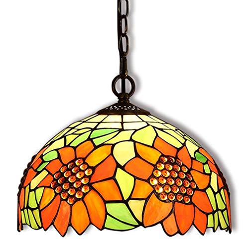 (ETH Tiffany Pendant Lamp Height Adjustable Vintage Hanging Lamp Dining Table Dining Room Lamps Kitchen Lamps Living Room Lamp Retro Decorative Lamp Chandelier Colorful)
