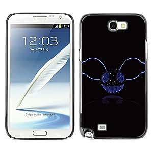 Design for Girls Plastic Cover Case FOR Samsung Note 2 N7100 Music Disco Ball Glitter Bling Party Smiley OBBA