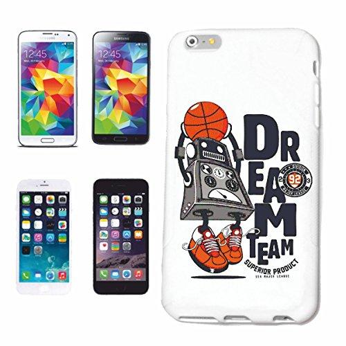 caja del teléfono iPhone 6+ Plus SUEÑO equipo de baloncesto ROBOT BOLA zapatillas de baloncesto del equipo de baloncesto del equipo de baloncesto club de baloncesto REPRODUCTOR DE BALONCESTO Caso du