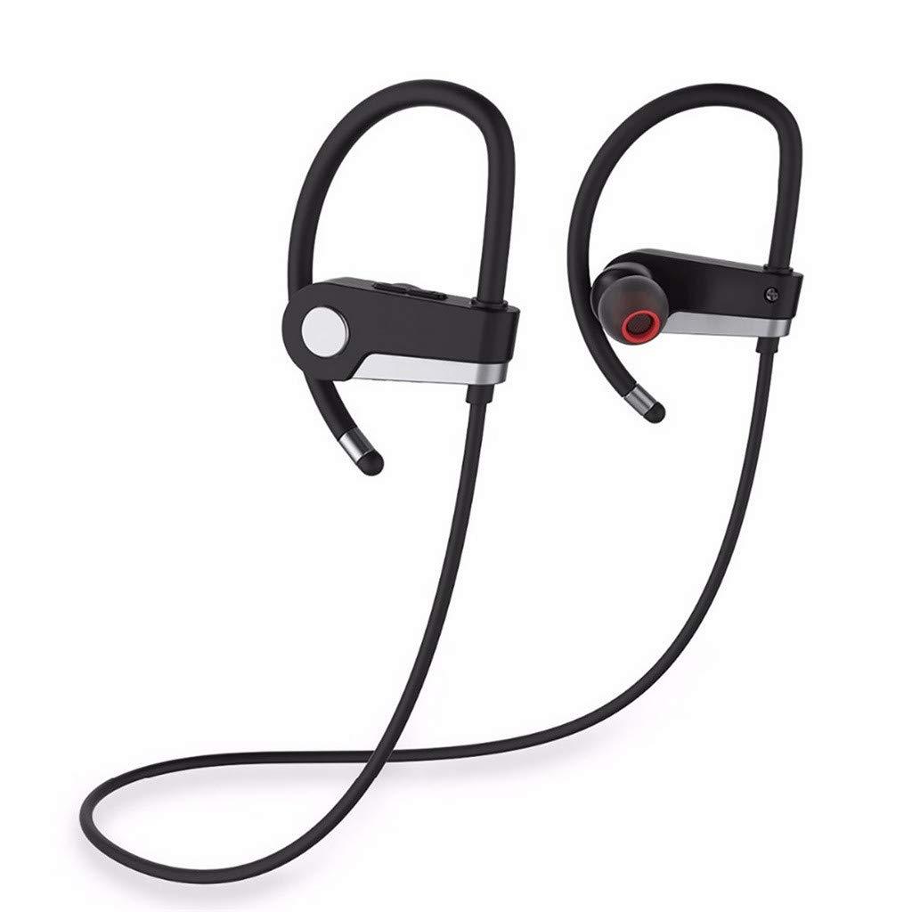 Libison Bluetoothヘッドセット C6 IPX5防水スポーツヘッドフォン V4.1 HDステレオサウンド ワイヤレスネックバンドヘッドホン ノイズキャンセリング インイヤーイヤホン トレーニング ランニング ジム用 グレイ KBL98711  グレー B07PZWGL8X