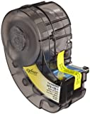 Brady XPS-125-1 IDXPERT PermaSleeve 0.235'' Height, 1.015'' Width, B-342 Heat-Shrink Polyolefin, Black On White Color Wire Marker Sleeves (100 Per Cartridge)