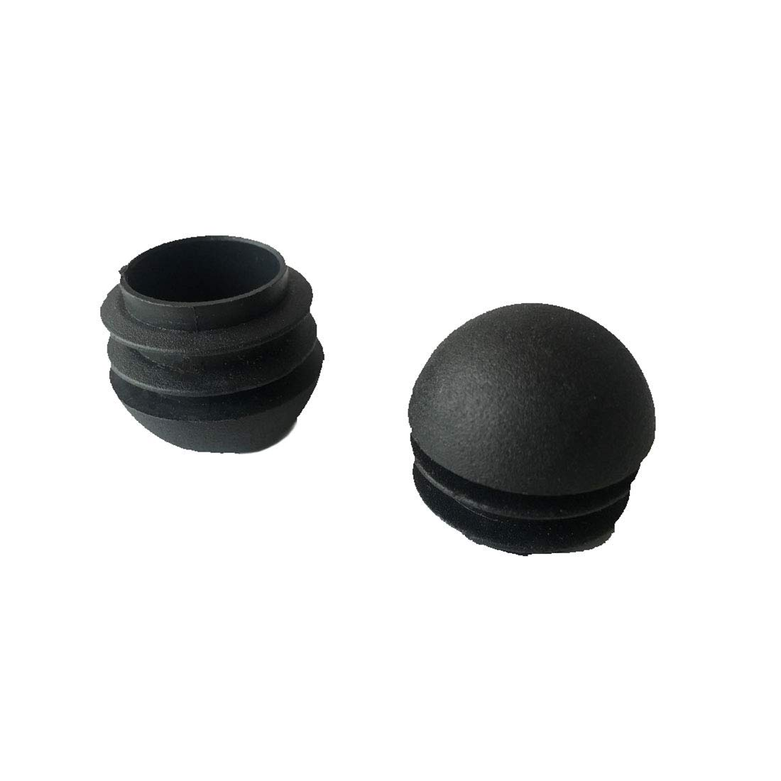 "Flyshop 16-Pack 1"" 25mm Black Plastic Cap Round Insert Furniture Glides for Tables and Chairs"