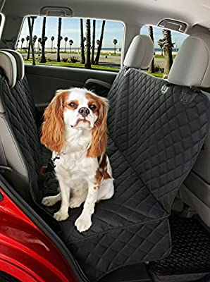 Dog Seat Cover Car Seat Cover Hammock for Cars Trucks and SUVs Heavy Duty Waterproof & Nonslip Backing Durable Back Seat Covers for Pets