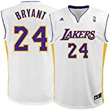 Kobe Bryant Los Angeles Lakers #24 White Alternate Kids 4-7 Replica Jersey (Kids 7)