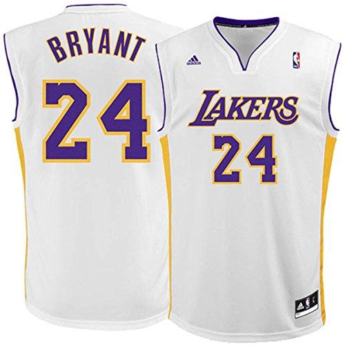 Kobe Bryant Los Angeles Lakers #24 White Alternate Kids 4-7 Replica Jersey (Kids 7)