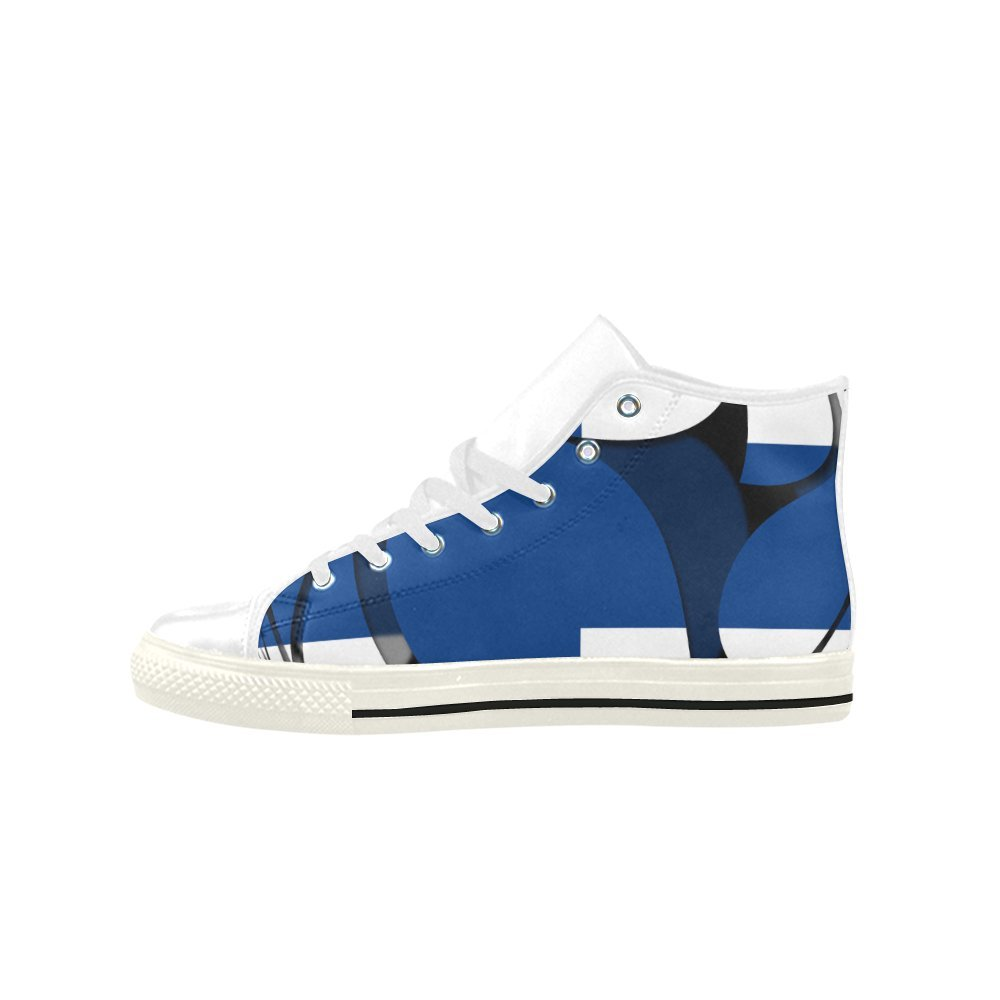 InterestPrint The Flag of Finland Aquila High Top Action Leather Mens Shoes