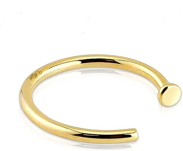 Amazon Com Blue Palm Body Jewelry 14 Karat Solid Yellow Gold 18