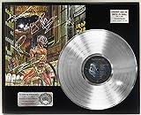 """IRON MAIDEN SOMEWHERE IN TIME PLATINUM LP LTD SIGNATURE RECORD DISPLAY """"C3"""""""