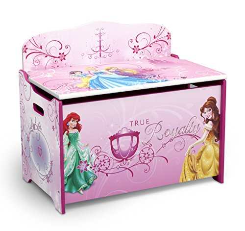 Delta Children Deluxe Toy Box, Disney Princess (Baseball Toy Chest)