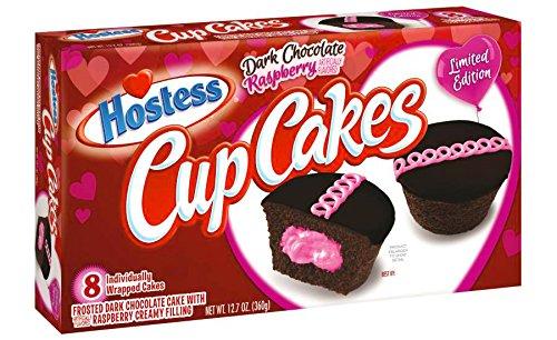 Hostess Limited Edition Dark Chocolate Raspberry Cupcakes