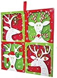 Entertaining with Caspari Reindeer Advent Calendar with 3D Relief