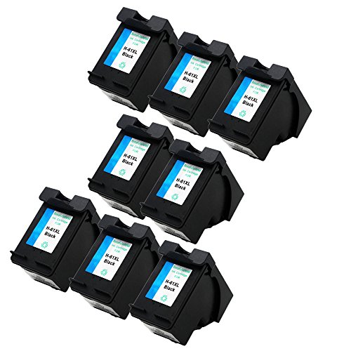 ESTON 8 Pack #61 XL Black Ink for HP Envy 4500 Envy 4501 ...