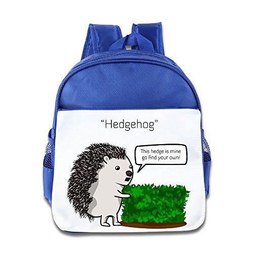 Yesher Kid's Bags - Unique This Hedgehog Is Mine Backpack Bookbag Rucksack Daypack For Toddler Kid Boys Girls RoyalBlue