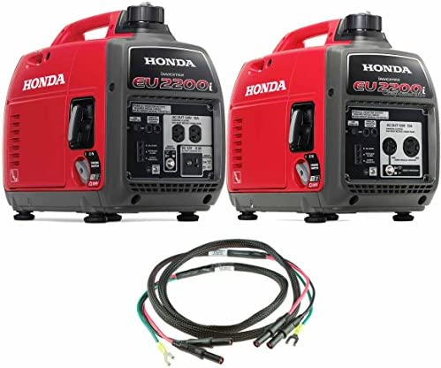 Honda EU2200i 2200W 120-Volt Portable Inverter Generator with Companion and Parallel Cables